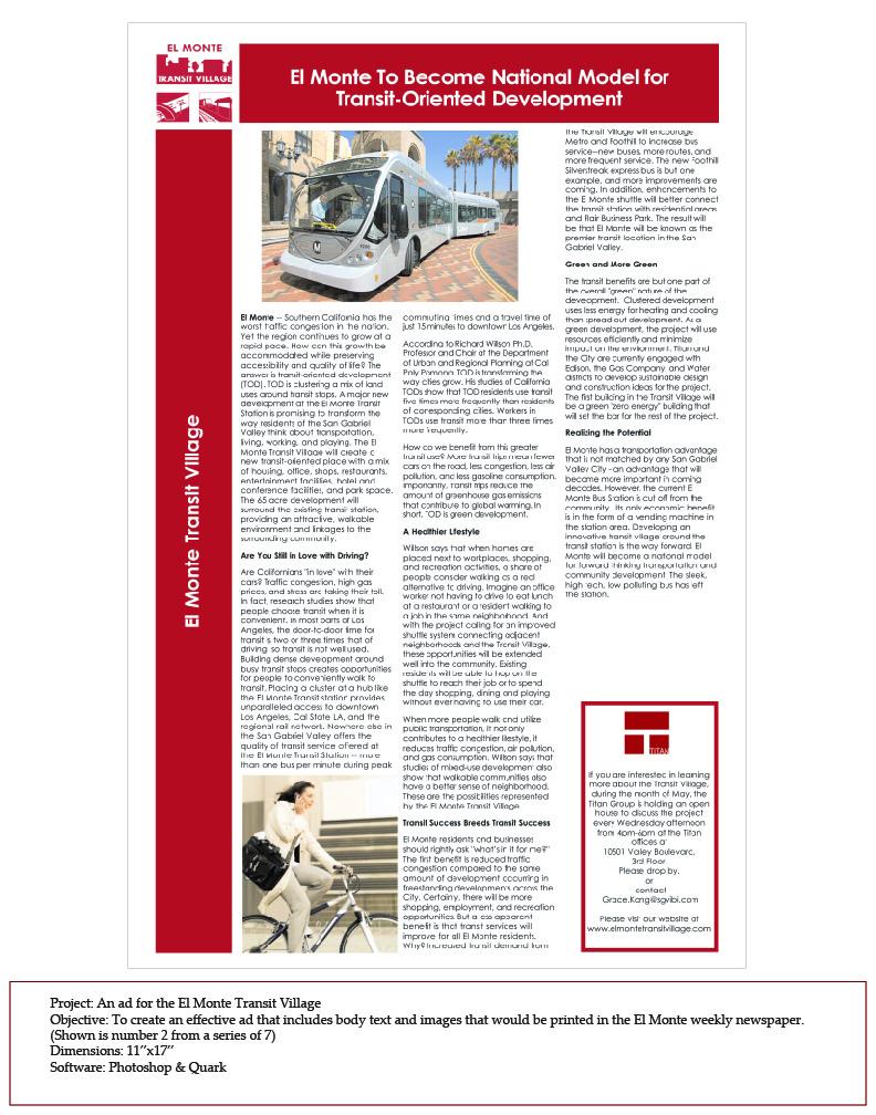 El Monte Newspaper AD