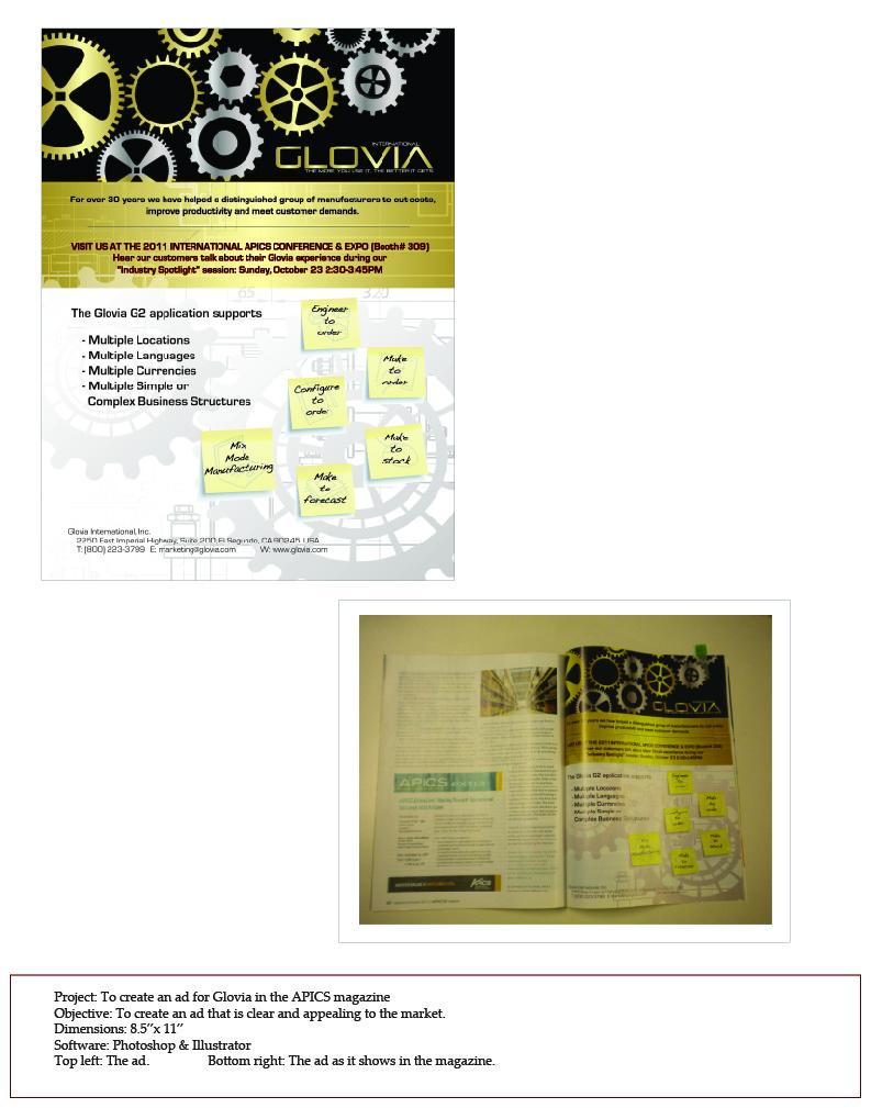 Glovia APICS AD